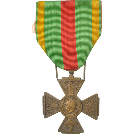 France, Croix du Combattant Volontaire, Medal, 1914-1918, Excellent Quality