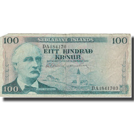Banknote, Iceland, 100 Kronur, 1961, 1961-03-27, KM:44a, F(12-15)