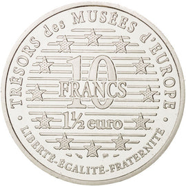 Coin, France, 10 Francs-1.5 Euro, 1996, Paris, AU(55-58), Silver, KM:1146