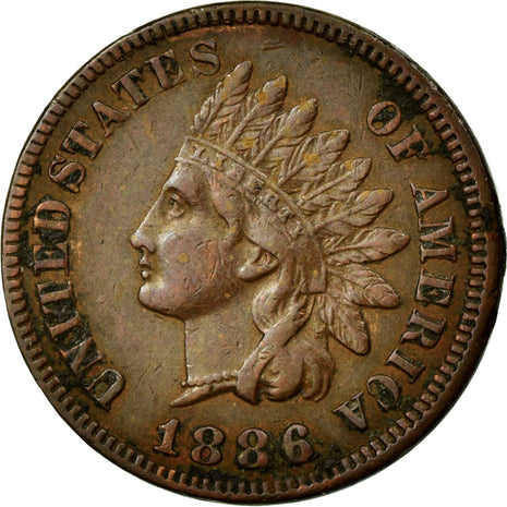 Coin, United States, Indian Head Cent, Cent, 1886, Philadelphia, AU(55-58)