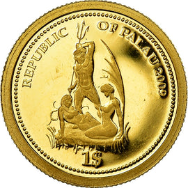 Coin, Palau, Dollar, 2009, CIT, MS(65-70), Gold, KM:234