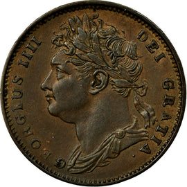 Coin, Great Britain, George IV, Farthing, 1821, MS(64), Copper, KM:677