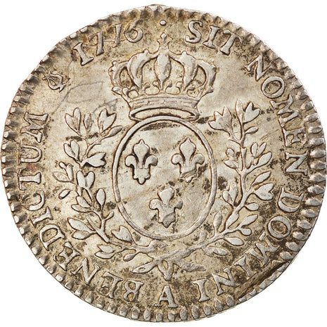 Coin, France, Louis XVI, 1/10 Écu, 12 Sols, 1/10 ECU, 1776, Paris, AU(55-58)