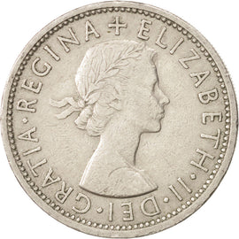 Coin, Great Britain, Elizabeth II, Florin, Two Shillings, 1965, EF(40-45)