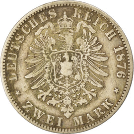 Coin, German States, PRUSSIA, Wilhelm I, 2 Mark, 1876, Berlin, VF(30-35)