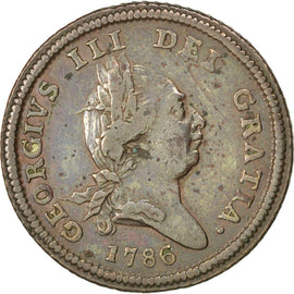 Coin, Isle of Man, 1/2 Penny, 1786, Pobjoy Mint, EF(40-45), Copper, KM:8