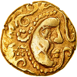 Coin, Parisii, Stater, Extremely rare, EF(40-45), Gold, Delestrée:78