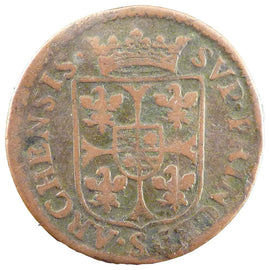 Coin, FRENCH STATES, NEVERS & RETHEL, 2 Liard, 1610, VF(20-25), Copper
