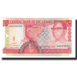 Banknote, The Gambia, 5 Dalasis, Undated (1991-95), KM:12a, UNC(65-70)