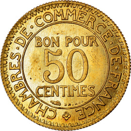Coin, France, Chambre de commerce, 50 Centimes, 1920, Paris, ESSAI, MS(63)