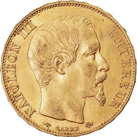 Coin, France, Napoleon III, 20 Francs, 1856, Paris, AU(55-58), Gold, KM:781.1