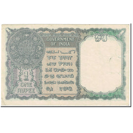 Banknote, India, 1 Rupee, 1940, Undated (1940), KM:25d, EF(40-45)
