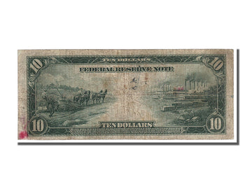 Banknote, United States, Ten Dollars, 1914, VF(20-25)