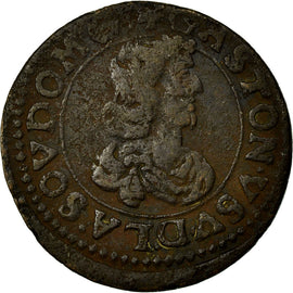 Coin, FRENCH STATES, DOMBES, Gaston d'Orléans, Double Tournois, 1643