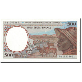 Banknote, Central African States, 500 Francs, 1994, Undated, KM:401Lb