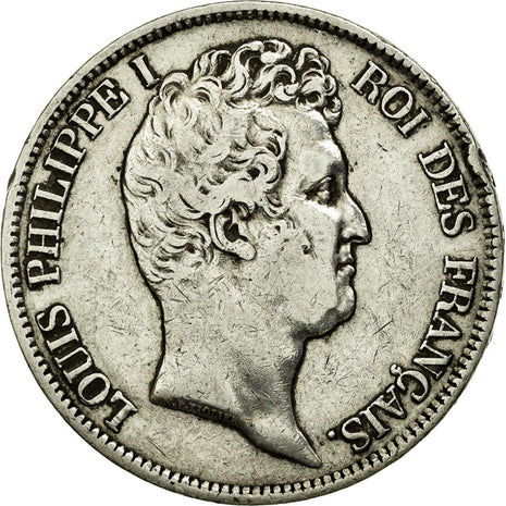 Coin, France, Louis-Philippe, 5 Francs, 1831, Rouen, EF(40-45), Silver