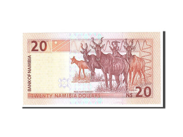 Banknote, Namibia, 20 Namibia Dollars, 1996, Undated, KM:5a, UNC(65-70)
