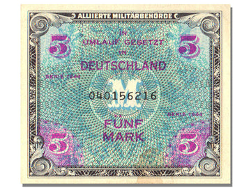 Banknote, Germany, 5 Mark, 1944, UNC(63)