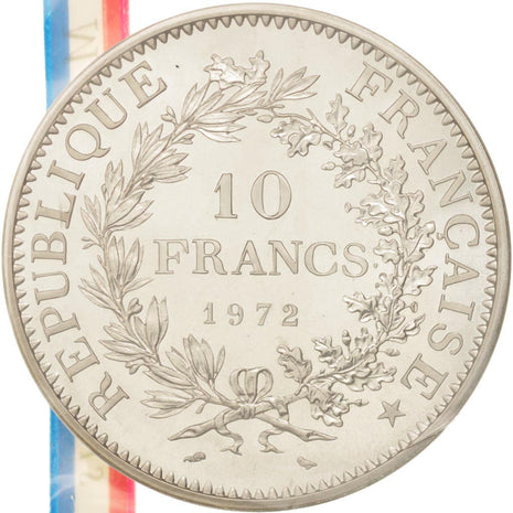 Coin, France, 10 Francs, 1972, MS(65-70), Silver, KM:P458, Gadoury:183.P1