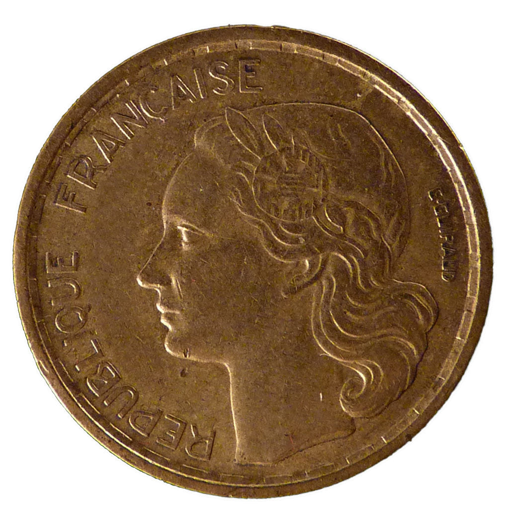 Coin, France, Guiraud, 20 Francs, 1950, Paris, AU(50-53), Aluminum-Bronze