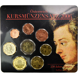 Austria, 1 Cent to 2 Euro, 2006, MS(65-70), (No Composition)