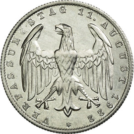 Coin, GERMANY, WEIMAR REPUBLIC, 3 Mark, 1922, Berlin, AU(55-58), Aluminum, KM:28