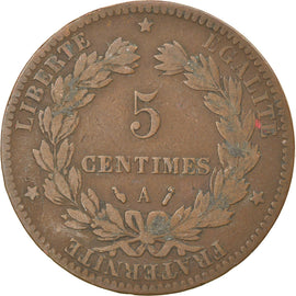 Coin, France, Cérès, 5 Centimes, 1887, Paris, VF(30-35), Bronze, KM:821.1