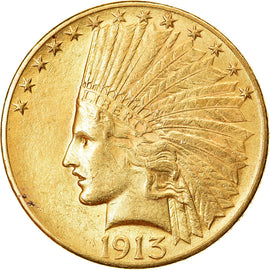 Coin, United States, Indian Head, $10, Eagle, 1913, Philadelphia, AU(55-58)