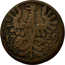 Coin, German States, AACHEN, 12 Heller, 1759, VF(30-35), Copper, KM:51