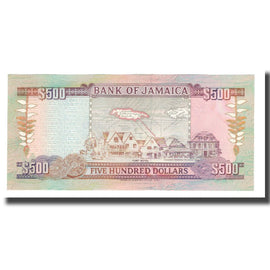 Banknote, Jamaica, 500 Dollars, 1994, 1994-05-01, KM:77a, UNC(65-70)