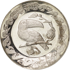 France, Bird 2, Fauna, Not Applicable, Medal, AU(55-58), Silver, 25