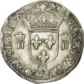 Coin, France, Teston, 1559, Bordeaux, VF(30-35), Silver, Sombart:4566