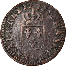Coin, France, Louis XV, Liard à la vieille tête, Liard, 1772, Montpellier