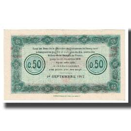 France, Nancy, 50 Centimes, 1917, EF(40-45), Pirot:87-1