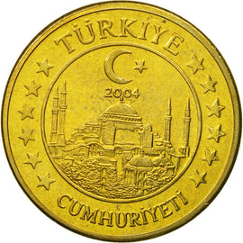 Turkey, Medal, Essai 50 cents, 2004, MS(63), Brass