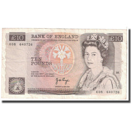 Banknote, Great Britain, 10 Pounds, 1975, KM:379a, EF(40-45)