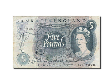 Banknote, Great Britain, 5 Pounds, 1963, 1963-1966, KM:375a, EF(40-45)
