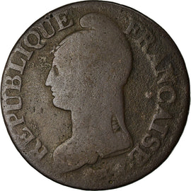 Coin, France, Dupré, 5 Centimes, AN 5, Strasbourg, VF(20-25), Bronze, KM:640.4