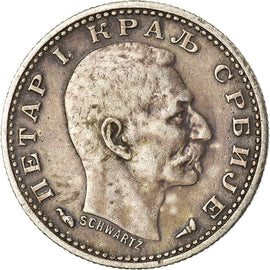 Coin, Serbia, Peter I, 50 Para, 1915, Gorham Mfg. Co., EF(40-45), Silver