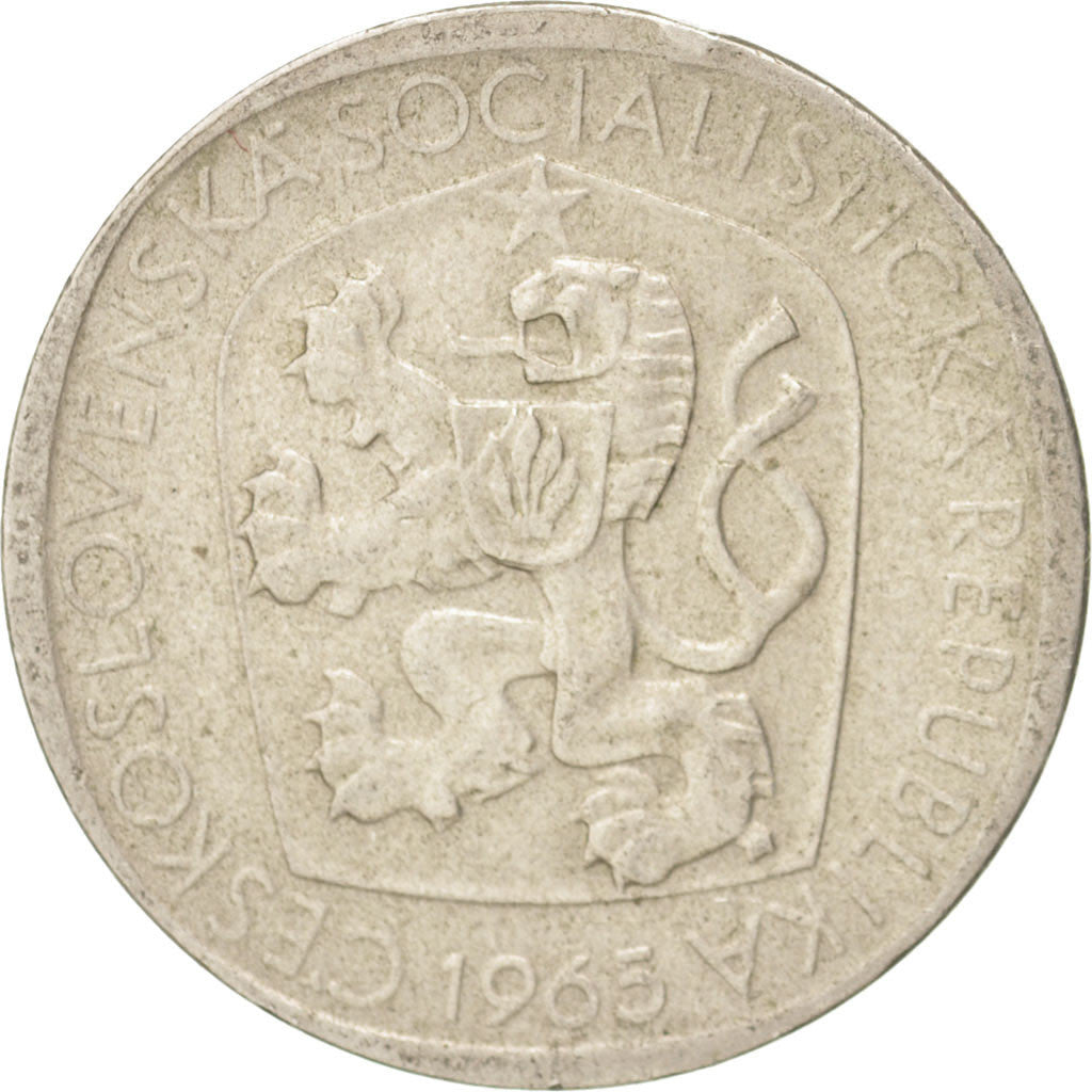 CZECHOSLOVAKIA, 3 Koruny, 1965, KM #57, EF(40-45), Copper-Nickel, 23.5