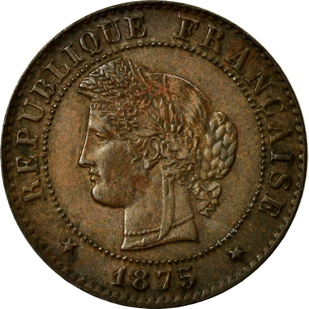Coin, France, Cérès, Centime, 1875, Bordeaux, AU(55-58), Bronze, Gadoury:88