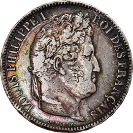 Coin, France, Louis-Philippe, 5 Francs, 1831, Toulouse, VF(30-35), Silver