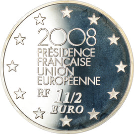 France, 1-1/2 Euro, 2008, BE, MS(65-70), Silver, Gadoury:EU300, KM:1527
