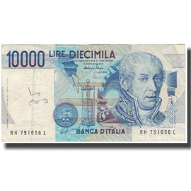 Banknote, Italy, 10,000 Lire, KM:112c, VG(8-10)