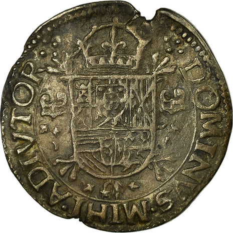 Coin, France, 1/5 Ecu, 1589, Arras, AU(50-53), Silver, Boudeau:1981