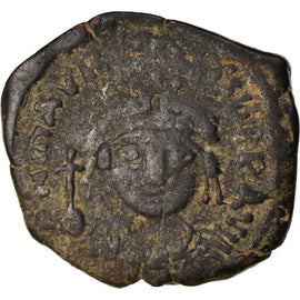Coin, Maurice Tiberius, Half Follis, 588-589, Thessalonica, VF(30-35), Copper