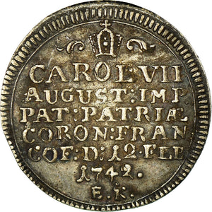 Germany, Token, Coronation of Emperor Charles VII, 1742, AU(50-53), Silver