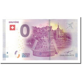 Switzerland, Tourist Banknote - 0 Euro, Switzerland - Gruyère - Ville