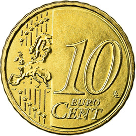 Greece, 10 Euro Cent, 2015, MS(65-70), Brass