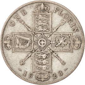 Coin, Great Britain, George V, Florin, Two Shillings, 1923, VF(20-25), Silver